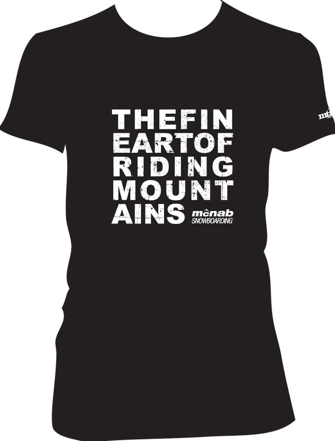 FIne-art-of riding mountain Tee