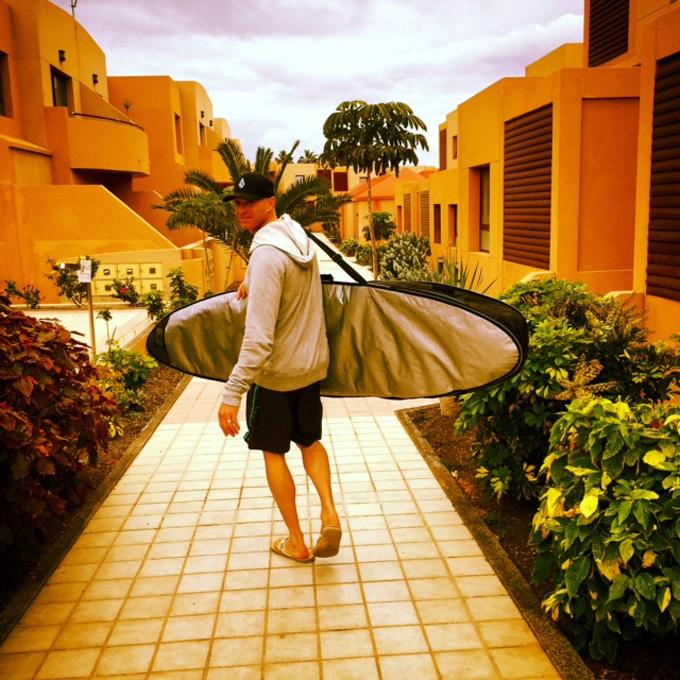 McNab gone surfing