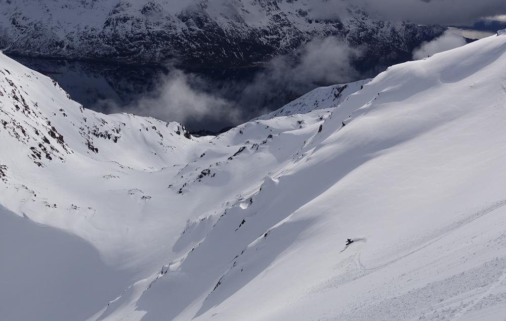 lofoten splitboard surf trip mcnab snowboarding